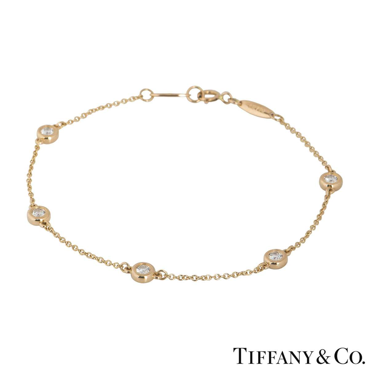 Tiffany & co. Rose Gold Elsa Peretti Diamonds by the Yard Bracelet